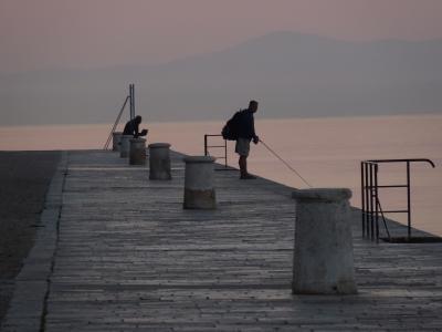 1810クロアチア~ザダルの海辺の夕景