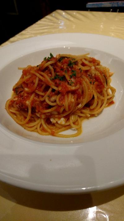 蒲田で昼食。イタリアンレストランで、パスタランチ