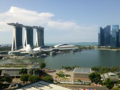 2017GWシンガポール&ビンタン#12 マリーナマンダリンホテルからショッピングモールへ シンガポール市内観光開始