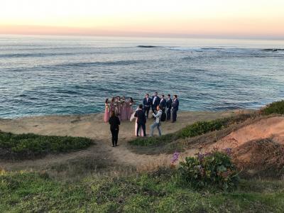 12月のサンディエゴ その1 海辺の結婚式