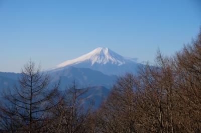 扇山、百蔵山 秀麗富嶽十二景で富士を見ながら初登り