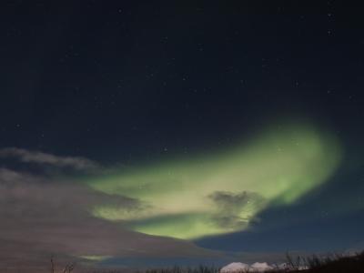 オーロラを求めて… アイスランド 5日目 ラングヨークトル氷河&オーロラ観賞
