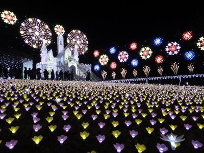 日帰りバスツアーで「スカイベリー」いちご狩りとあしかがフラワーパーク450万球の「光の花の庭」イルミネーションを堪能してきました!