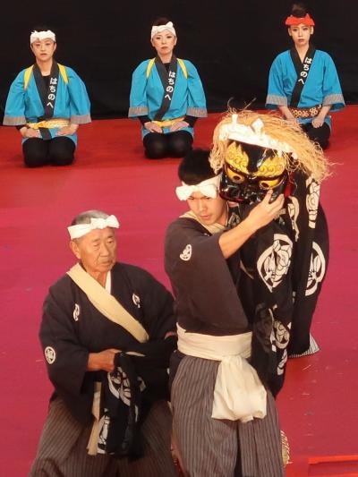 ふるさと祭り東京-8 八戸・法霊神楽b 獅子頭の歯打ち勇壮 ☆悪魔を退散させ平穏を願い