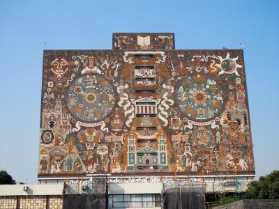 長期勤続ご褒美休暇で初中南米&スペイン語圏のメキシコ世界遺産巡り ③2日目後半はタダで見られる世界遺産「メキシコ国立自治大学(UNAM) 」へ