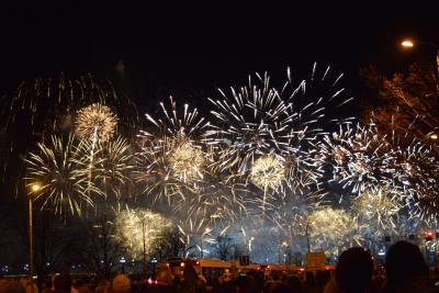 ラトビア・リガは独立記念日でお祝い