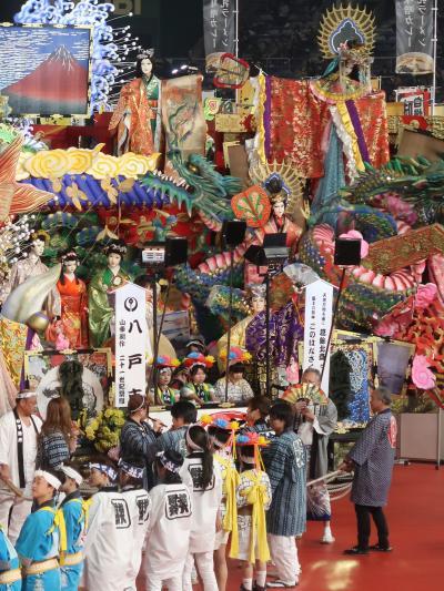 ふるさと祭り東京-9 八戸三社大祭a 絢爛豪華な装飾山車 ☆東北地方最大級の神事で