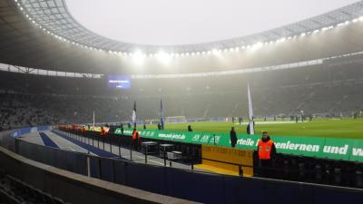 ドイツべルリンで「ブンデスリーガ・サッカー観戦」で凍るかと思った☆