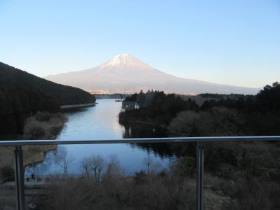 休暇村富士から見る田貫湖と富士山