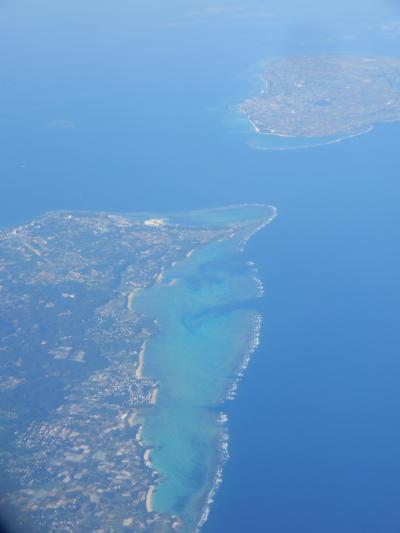 沖縄ゴルフ旅行(関西空港から那覇空港までの空撮)