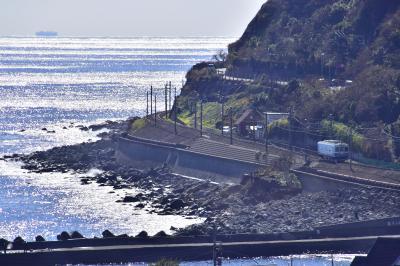一足早い春を求めて、伊豆の海と引退間近な伊豆急100系の走る風景を探しに訪れてみた