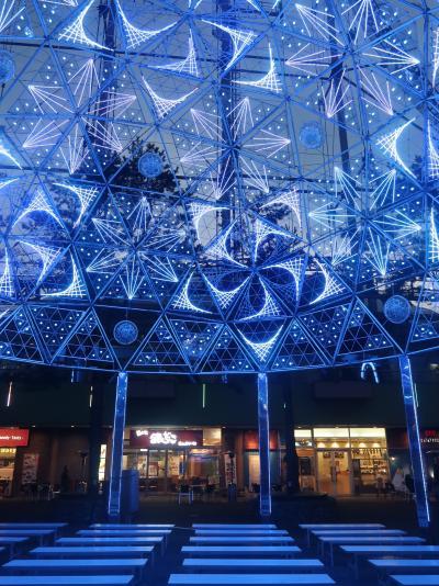 東京ドームシティ 冬季イルミネーション-b ☆ラクーア会場/手毬ドーム・江戸切子の華など