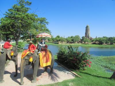 2014.11 ツアーで行ってみたタイランド(4)アユタヤで遺跡巡り・象に乗って巡る前編。