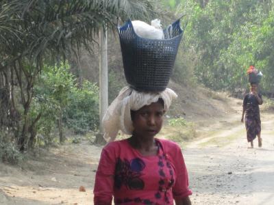 ミャンマー国境付近 働くロヒンギャの女性達