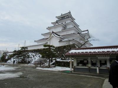 2019年2月、雪の会津若松市へ「鶴ヶ城の雪吊り」でも雪が少ないんです!