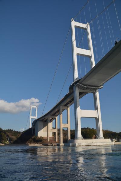 瀬戸内島巡り紀行 来島海峡大橋からエレベーターで降りれる馬島