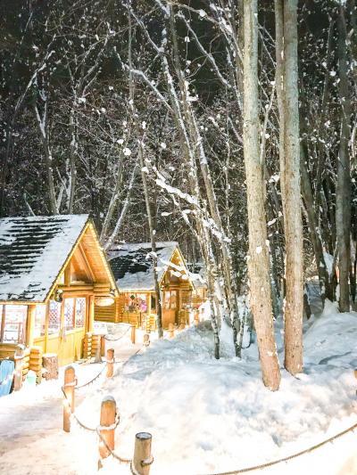 富良野で子どもと雪遊び