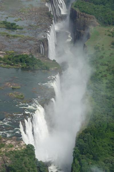 ヴィクトリアの滝、南部アフリカの旅(1)ジンバブエ