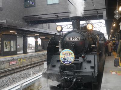 冬の車窓を肴に呑み鉄旅。~SL大樹と会津鉄道お座トロ列車~