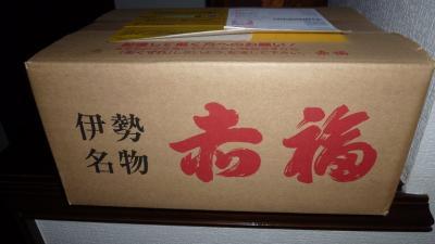 ヤット正月休みが取れた娘から・・お届け物です ❢  どぉ~んと 『赤福』と「虎屋ウイロウ」・・^^! ブログ&動画