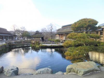 神秘の湧水池と富士山