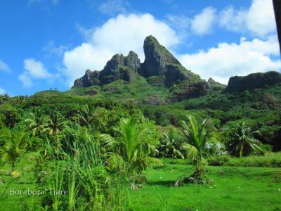 見事なオテマヌ山(2018ボラボラ島)