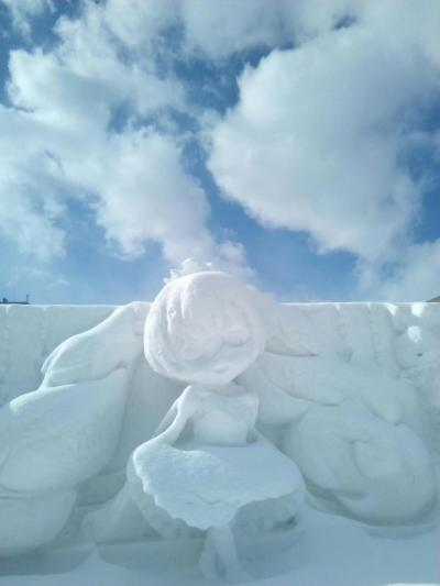 雪まつり後の大通公園(2月14日)