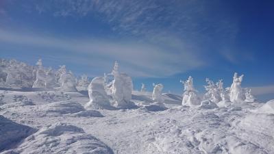蔵王の樹氷を見るバスツアーに参加しました 2日目