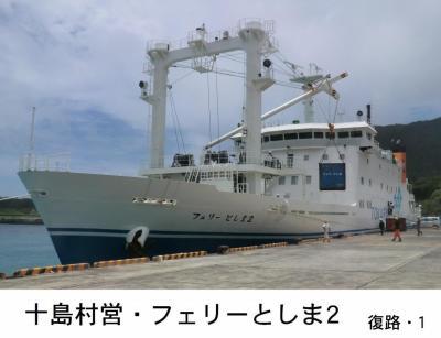 悪天候に振り回された離島航路旅・その6.〔祝〕新造船就航 十島村営「フェリーとしま2」乗船記(宝島~鹿児島)復路1。