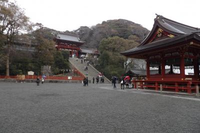 小雪の鶴岡八幡宮