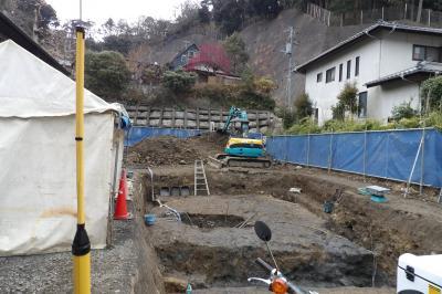 北鎌倉の発掘現場