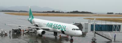 エアソウルに乗るため静岡空港へ