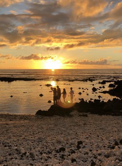 2019,1月 初めてのハワイはハワイ島から ヒルトン・ワイコロア・ビレッジ・ホテル散策とビーチで見たサンセット、そして帰国