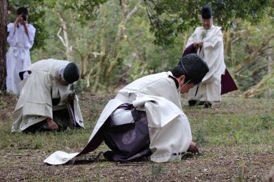 冬の京歩き③神事:上賀茂神社燃灯祭に参列
