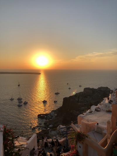 ギリシャ【5】サントリーニ島 イアの夕陽