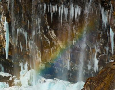 氷瀑華厳の滝 ~今冬の氷の風景見納め~