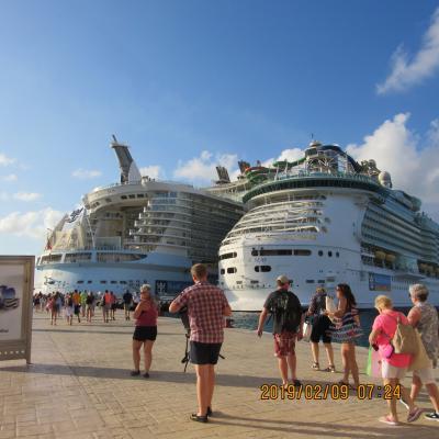 ④ 2回目の世界最大豪華客船「オアシス・オブ・ザシーズ23万トン」でカリブ海(メキシコ・ジヤマイカ・ハイチ)クルーズ
