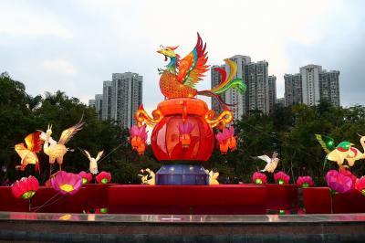 旧正月香港★元宵快樂!ランタンを見て湯圓を食べて ~新界西元宵綵燈會ランタンカーニバル@天水圍公園~