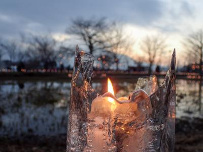 山中湖と河口湖の花火を見に…@山中湖&河口湖