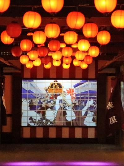 東京 MEGA イルミ-5   江戸期-城下町-にぎわい光夜 ☆暖簾をくぐり映像で遊ぶ