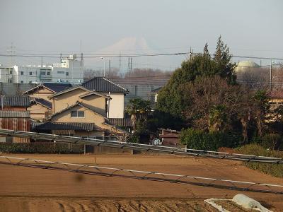 2月22日に見られた富士山
