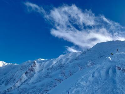 雪の大山登山