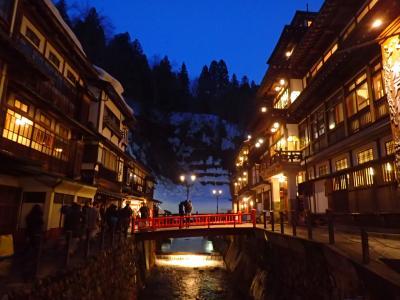 山形2泊3日-2☆銀山温泉日帰り(山形市泊)でも大正ロマンな夜景を満喫