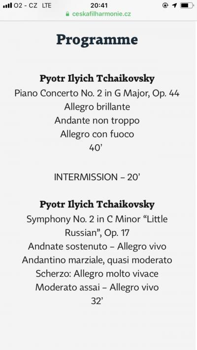 音楽の旅③  Rudolfinumでチャイコフスキー ピアノコンチェルト