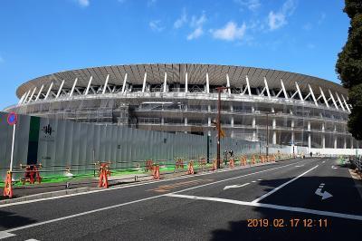 【東京散策96-2】 来年にせまった東京2020オリンピック会場の建設状況を見てみた 《メイン会場の新国立競技場》