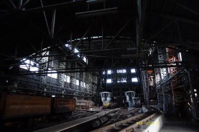 根室本線東鹿越駅と住友赤平炭礦立坑を訪ねて