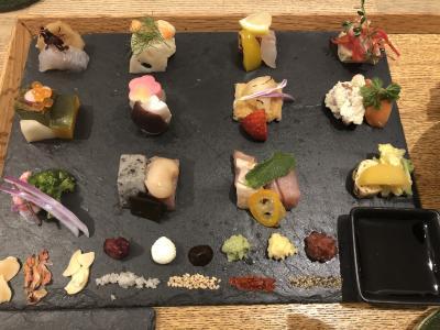 アウームの手織り寿司を楽しみました!