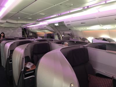 SQ232 シドニー発シンガポール行き ビジネスクラス