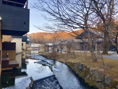 春目前 アウトレット&星のや軽井沢に泊まる長野