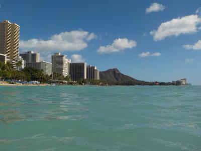 モアナ・サーフライダーに泊まる冬ハワイ2019☆3日目☆2月ハワイは泳げるのか泳げないのか